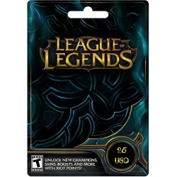 League of Legends 25 US Gift Card - Riot Points - USA NA