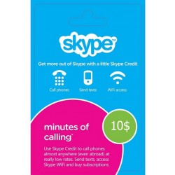 Skype Voucher 10$ USD