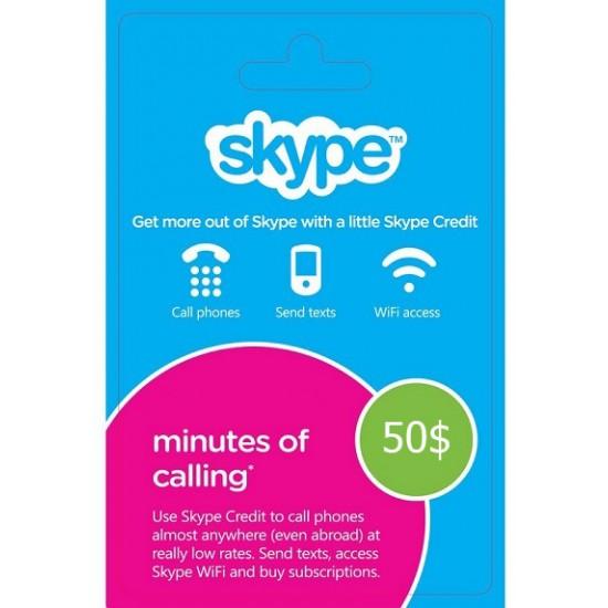 Skype Voucher 50$ USD