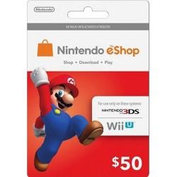 Nintendo EShop Card 50$