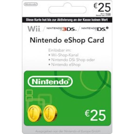 Nintendo EShop Card 25 Euro