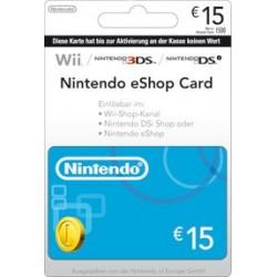 Nintendo EShop Card 15 Euro