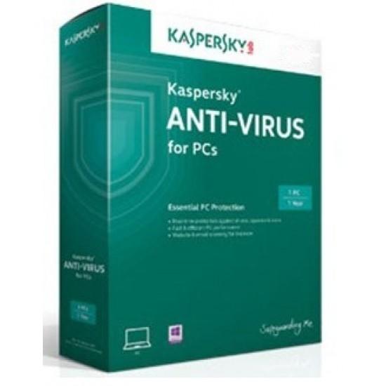 Kaspersky Anti-Virus 2020 2PC to 1Year