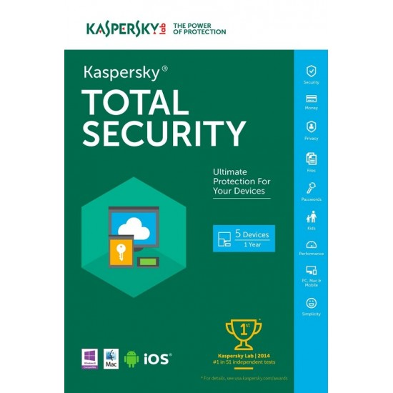 Kaspersky Total Security 2020 3 PC 1 Year